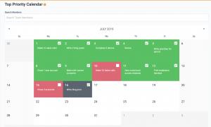 Top Priority Focus Calendar