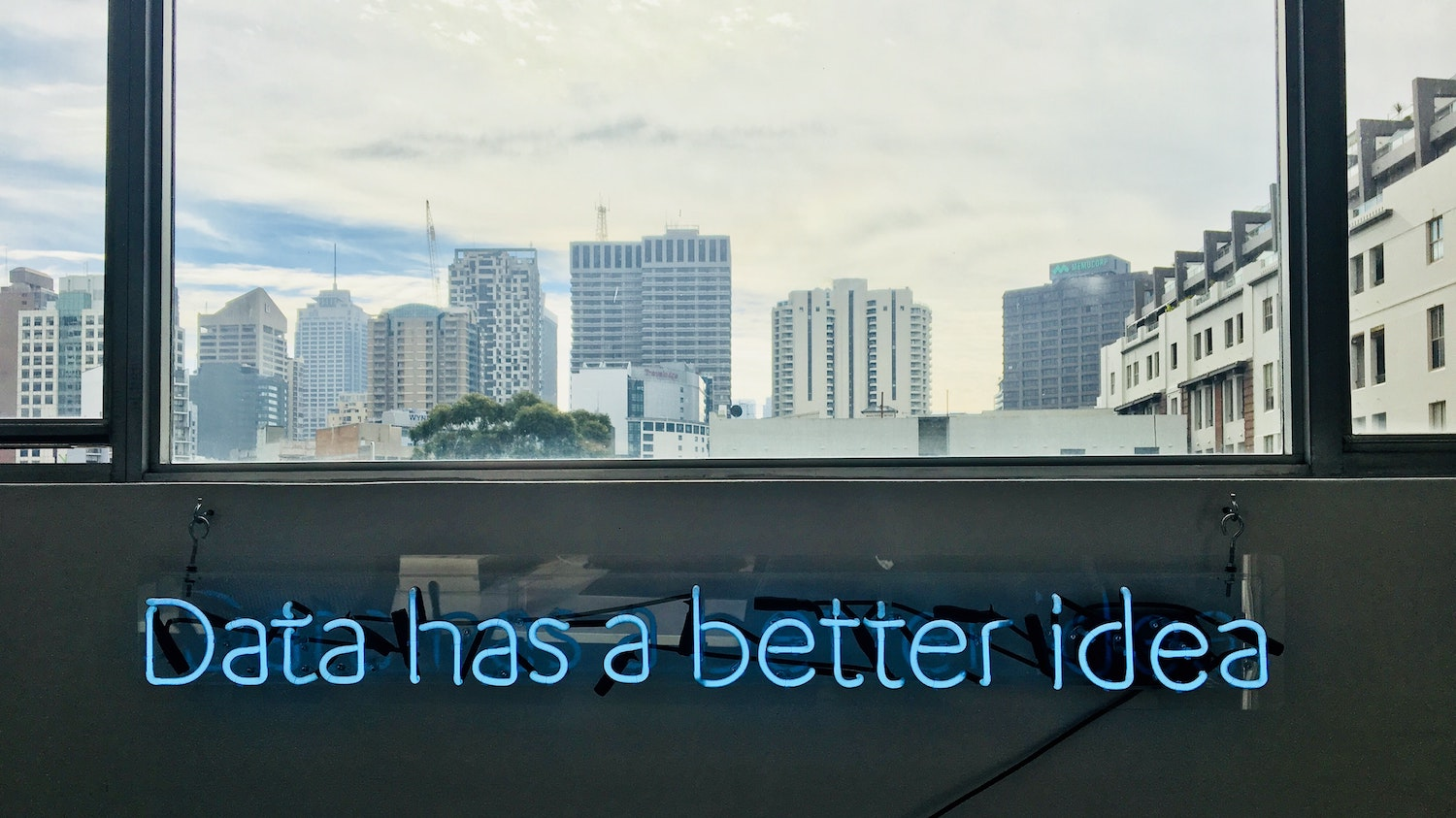 data has a better idea neon sign
