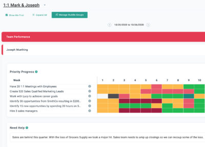 align weekly huddle feature screenshot