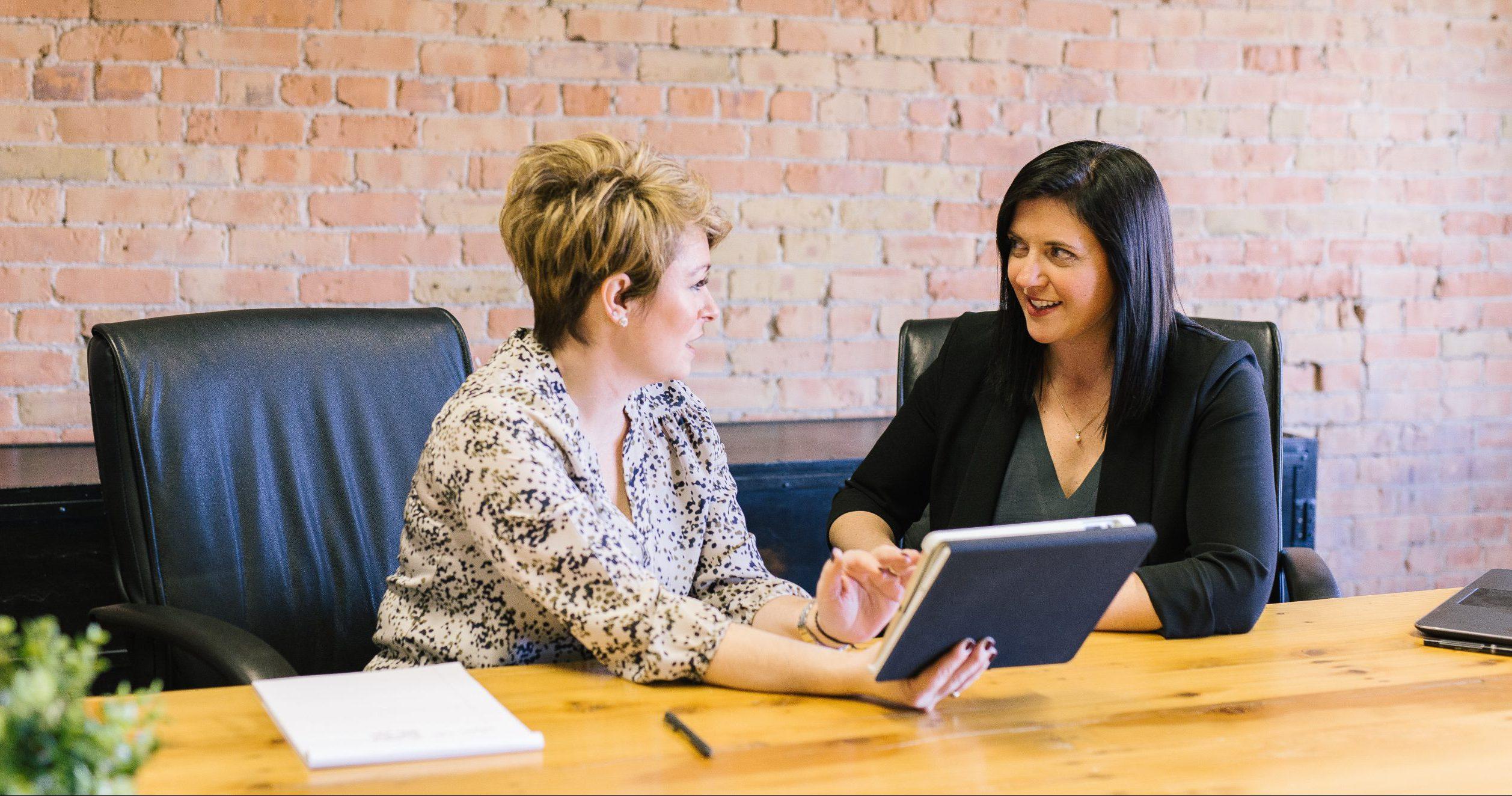 woman coaching mentor