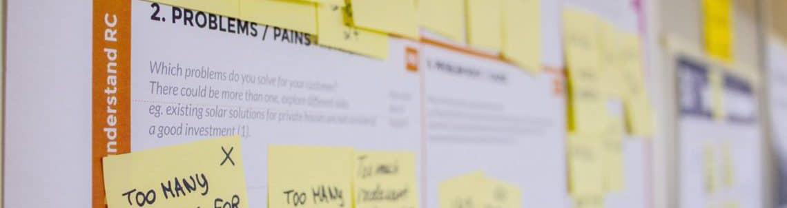 planning sticky notes