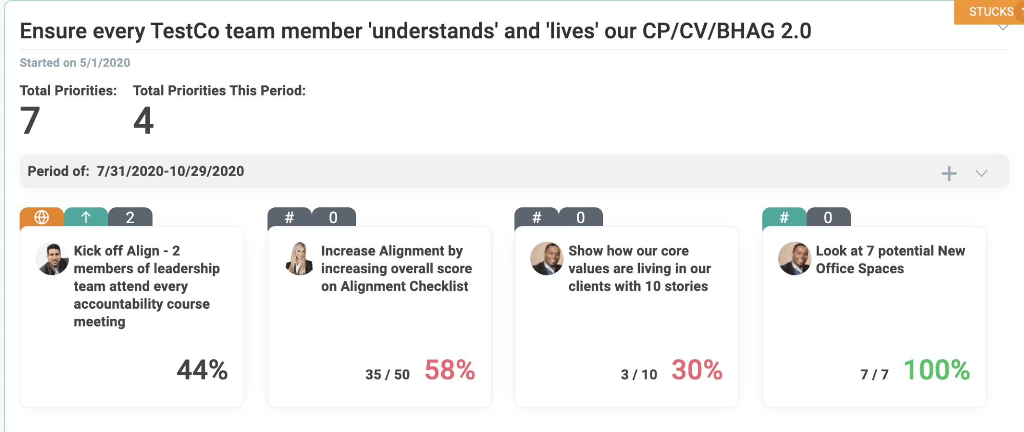 annual initiatives screenshot
