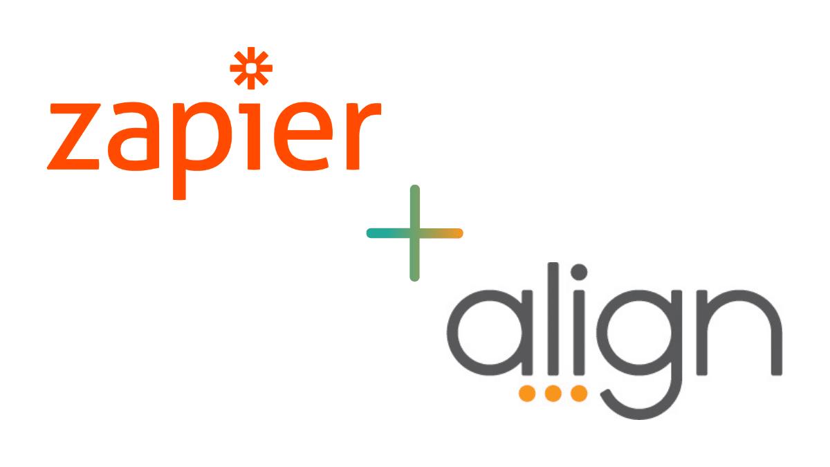 Align and zapier logos