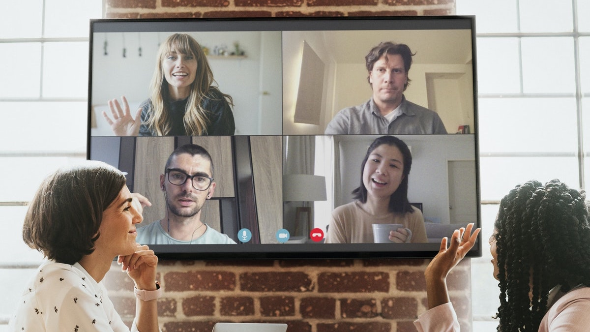 remote team zoom meeting