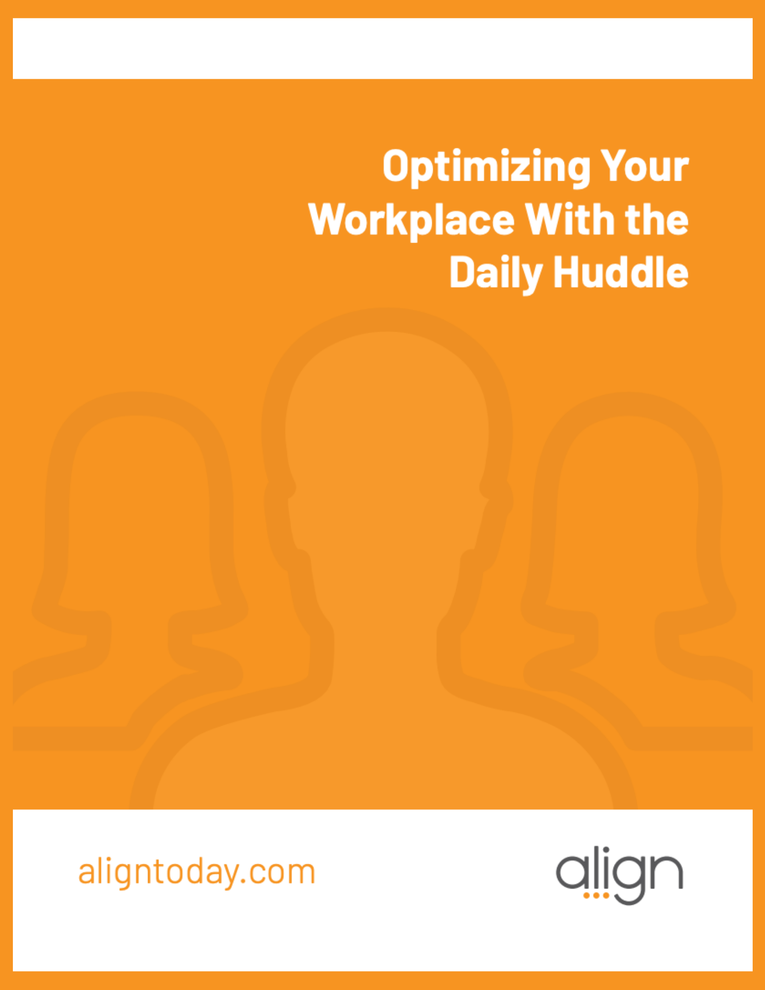 Cover to The Introduction to Daily Huddles