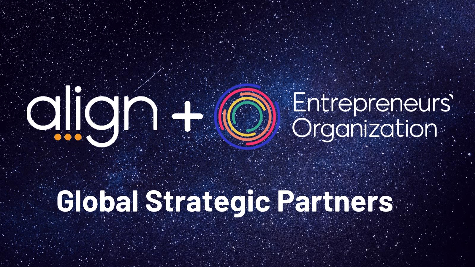 entrepreneurs organization and align partnership banner